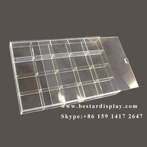 Reliable china supplier transparent clear acrylic sliding box